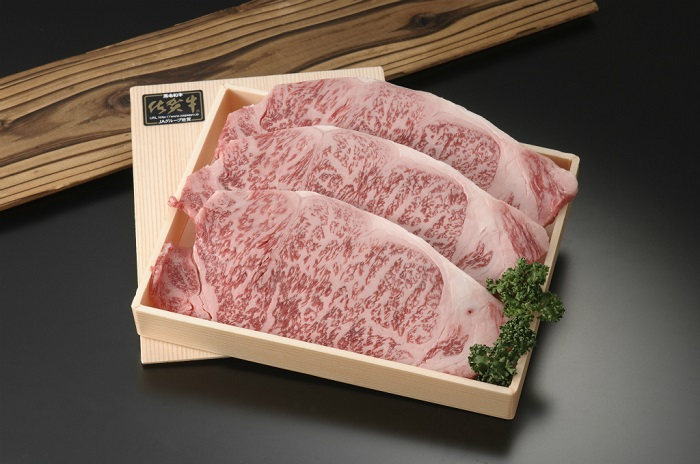 とろける美味しさ 佐賀牛ロースステーキ200gX3
