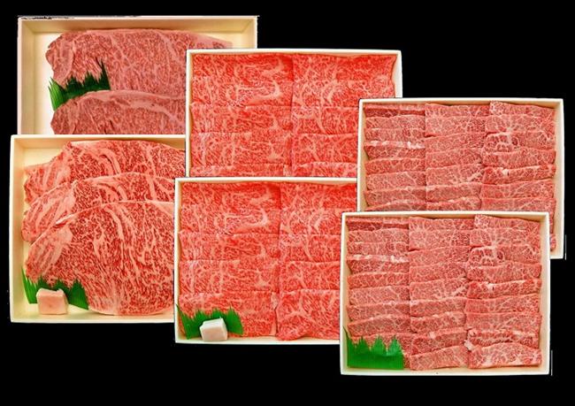 【A4/A5ランク黒毛和牛】びらとり和牛ステーキとすき焼きと焼肉豪華セットA