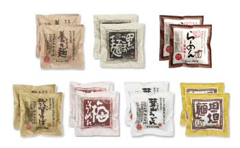 UN02-C 『島原・雲仙特産』手延べ麺(即席タイプ)具材付き詰め合せ 特別セットB