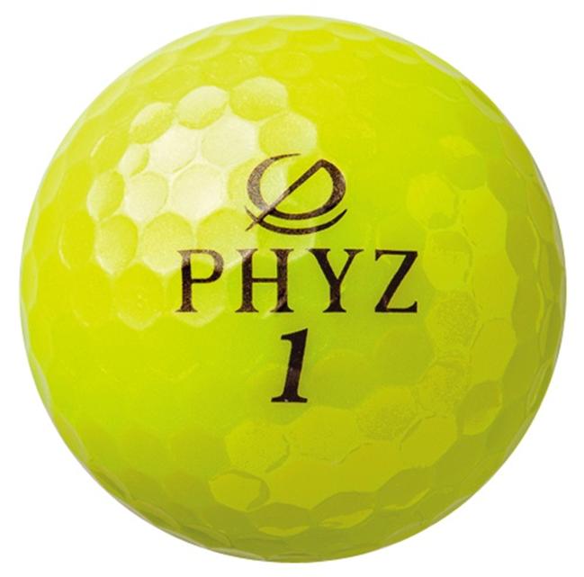 AF12ゴルフがもっと楽しくなるBRIDGESTONEゴルフボールPHYZ(イエロー)