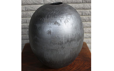 【数量限定】<天山窯・一條隆好作>黒釉 壷