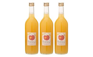 【期間延長・数量限定】<おおたリンゴ園>搾りたてリンゴジュース3本セット