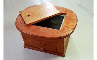 地元職人が丹精込めてつくる手作り工芸品 火鉢(楕円型)