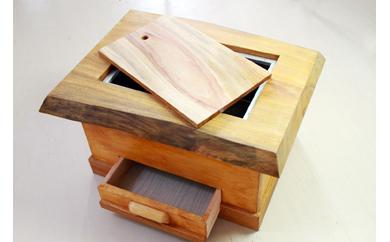 【地元職人が丹精込めてつくる手作り工芸品】火鉢(四角型)