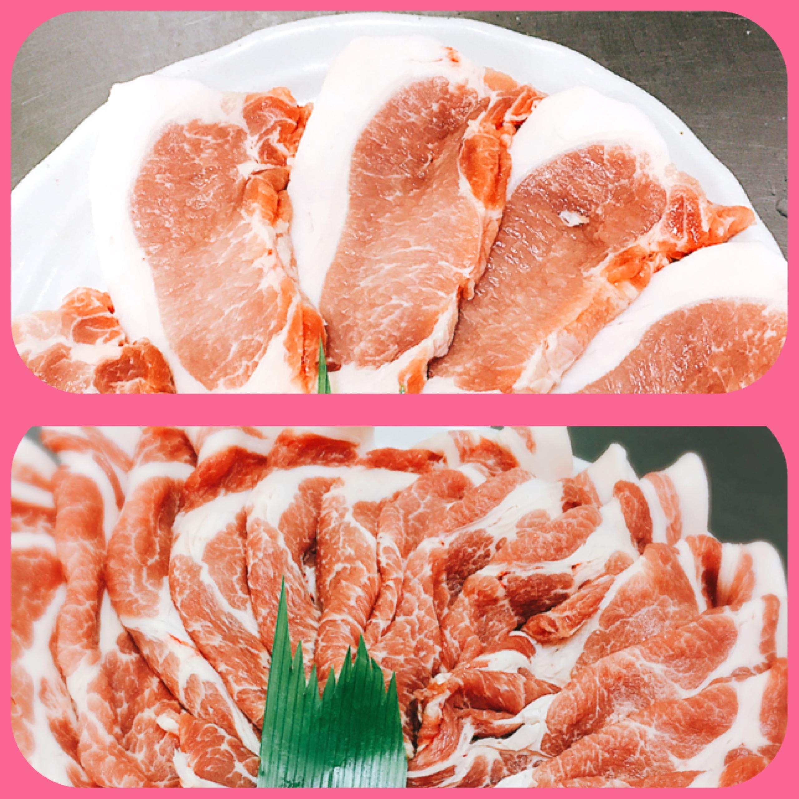 越前旨香豚 トンテキ用ロース&生姜焼用肩ロース