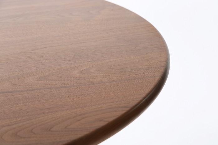 熱い男が作るブラックウォールナットの丸テーブル
