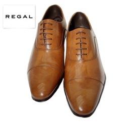 REGALリーガルバルモラル(内羽根)牛革ビジネスシューズ(ストレートチップ)011RAL
