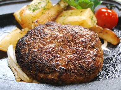 【溢れる肉汁で大人気!】近江牛と黒豚のハンバーグ【AF01SM-C】