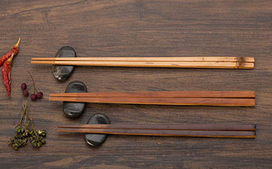 煤竹(すすたけ)箸セットA