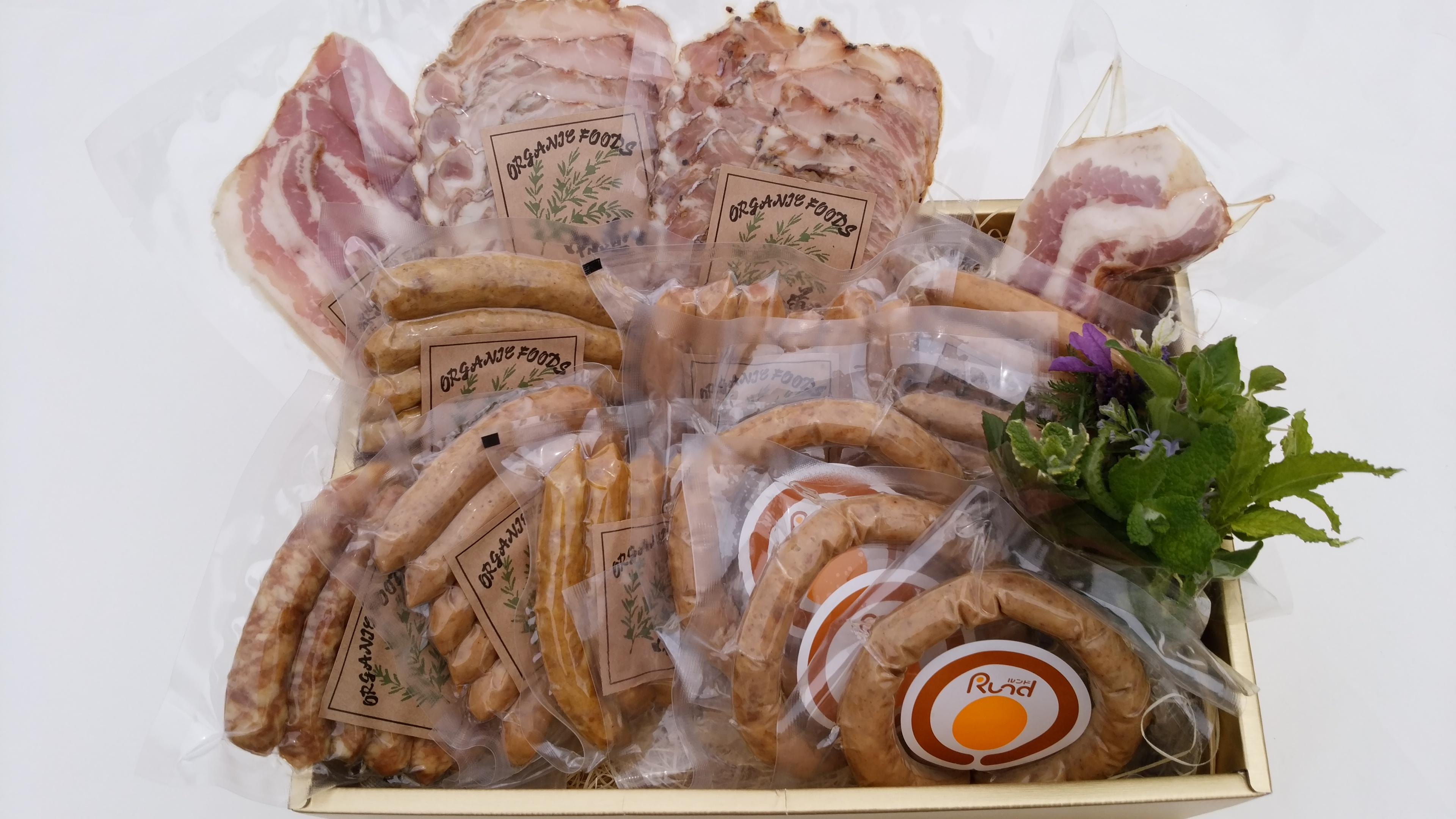 【岐阜県産豚肉使用】(14種)無添加ハム、ソーセージ、ベーコンの詰め合わせ