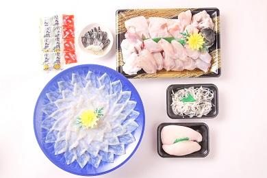 【若男水産】【淡路島3年とらふぐ】雪ふぐ鍋刺身白子付・冷凍(3~4人前)