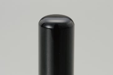 【京印章・手仕上げ】〈最良芯持〉黒水牛15ミリ丸 御実印