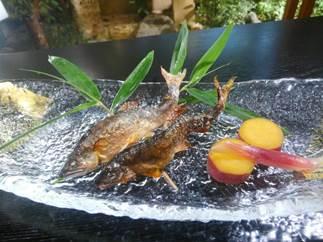 【宮本屋】京都丹波/天然鮎料理 お食事券(ペア・ワンドリンク付)