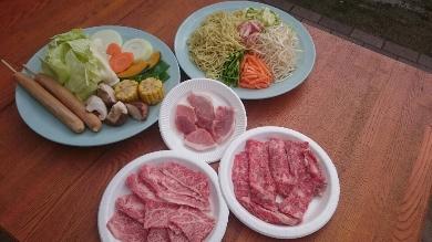 【そうしんファーム】ペア日帰りBBQ利用券+お米5kg(玄米)
