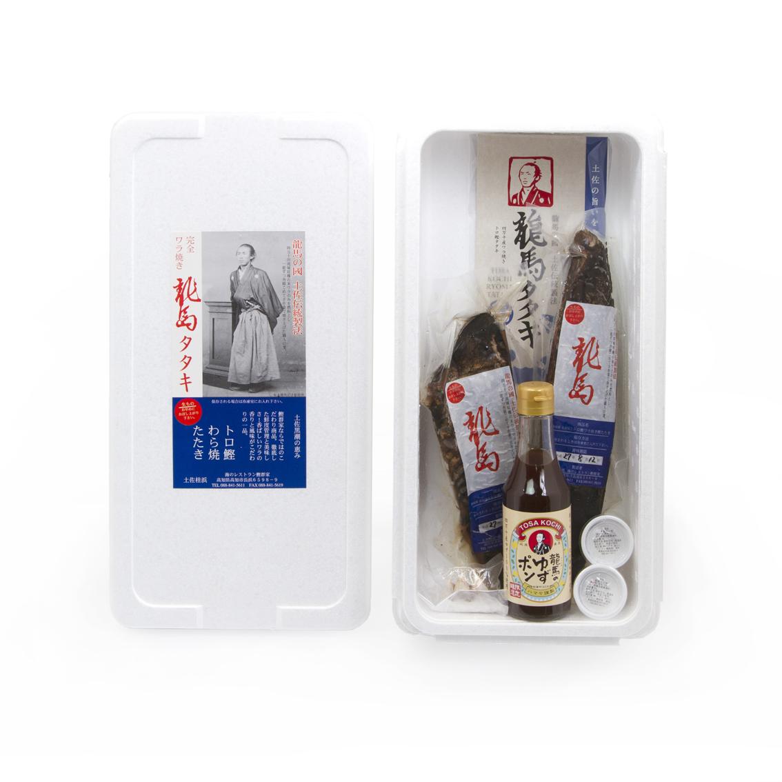 完全ワラ焼き鰹タタキ「龍馬タタキ」