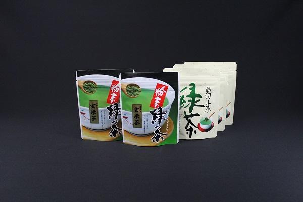 愛鷹茶 粉末緑茶3袋と粉末玄米茶2袋