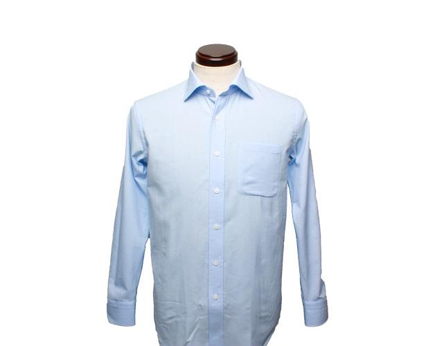 【三豊肌衣】ドレスシャツサックスセミワイドLLサイズ