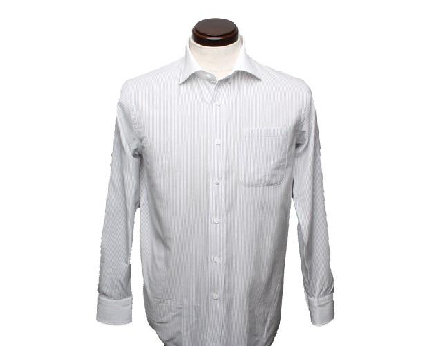 【三豊肌衣】ドレスシャツグレークレリックセミワイドLLサイズ