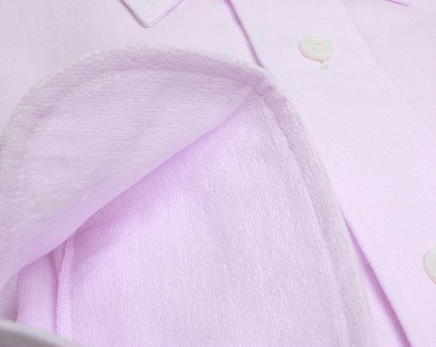 【三豊肌衣】ドレスシャツピンクセミワイドMサイズ