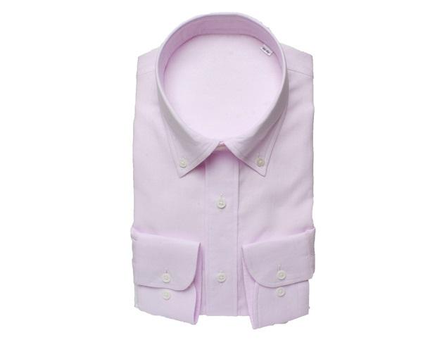 【三豊肌衣】ドレスシャツピンクボタンダウンMサイズ