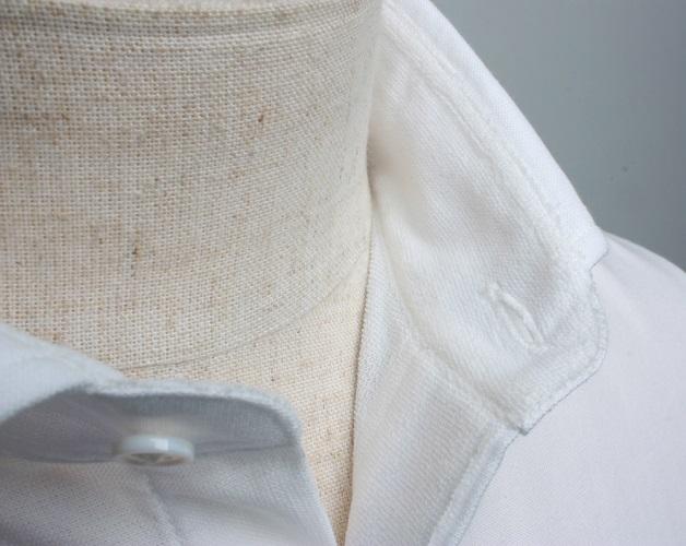 【三豊肌衣】ドレスシャツホワイトセミワイドSサイズ