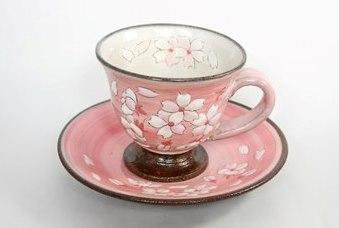 桜模様カップ&ソーサ(ピンク)1組
