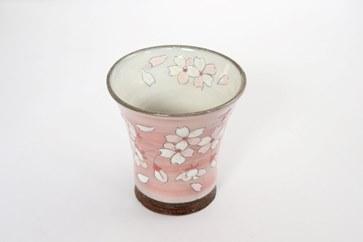 桜模様フリーグラス(ピンク)