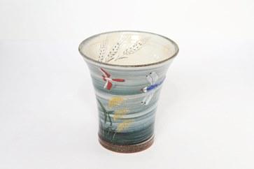 【受注生産】トンボ模様ロンググラス(グレー)