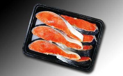 【唐戸市場店で大人気】焼いて食べる鮭なら一番美味しい!天然紅鮭切身7切