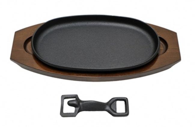 最高級和牛を焼くための南部鉄器ステーキ皿