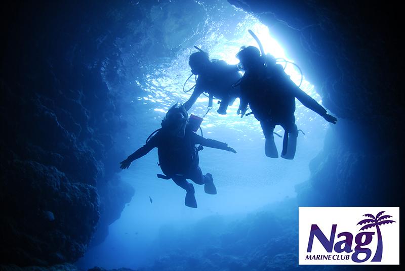青の洞窟体験ダイビング+熱帯魚と遊ぶ餌付け体験ダイビング【1名様】