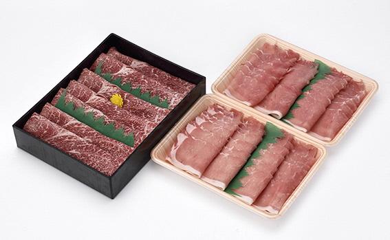 豊後牛【頂】&ブランド豚おいも豚のすき焼、しゃぶしゃぶ食べ比べセット(豊後牛 頂700g、おいも豚400g×2P=800g 計1.5kg)