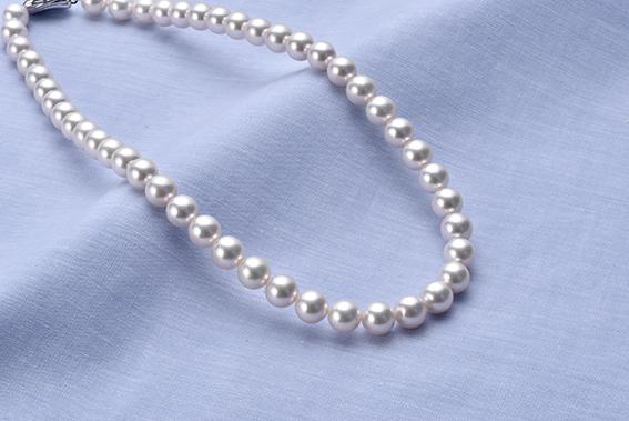 真珠品評会入賞常連のオーハタパールが作る海の宝石 アコヤ真珠大粒ネックレス
