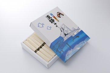 淡路島手延べ素麺御陵糸黒帯 化粧箱(1500g)
