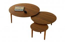バルーンリビングテーブル90-3枚ウォールナット