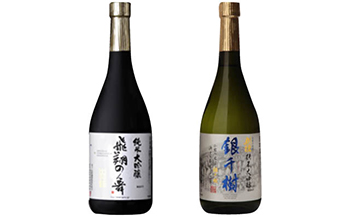 「2蔵の技術をお届け」出羽鶴・刈穂純米大吟醸味わい2本セット