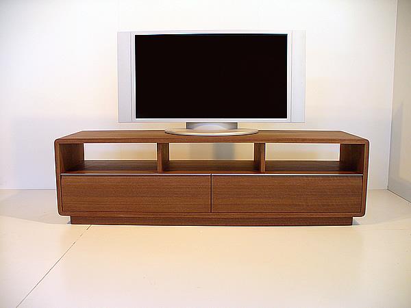 【ROUNDテレビボード ウォールナット153cm】<ウォールナット材ツキ板 オイルフィニッシュ>mufactory