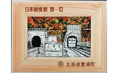 日本一の秘境駅小幌写真立て