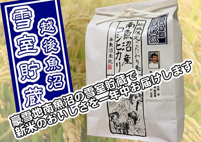 【頒布会】雪室貯蔵・南魚沼しおざわ産コシヒカリ生産者限定(10Kg×全3回)