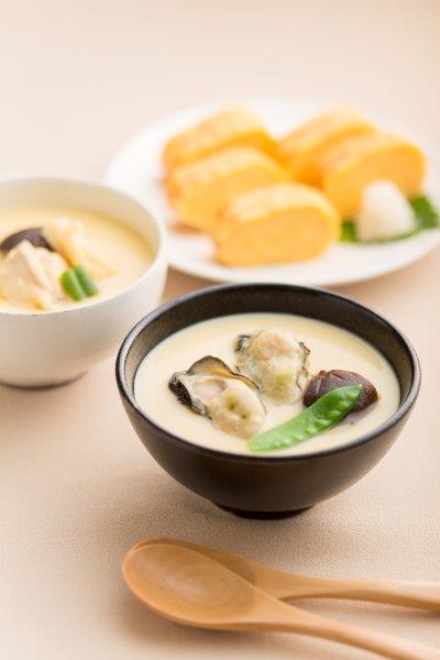 糸島たまご屋本舗の茶碗蒸しと玉子焼きセット