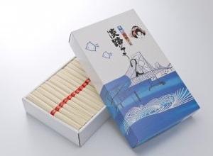 淡路島手延べ素麺 淡じ糸 赤帯 化粧箱 3000g