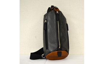 豊岡鞄 帆布×皮革ワンショルダー(24-132)ブラック