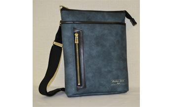 豊岡産合皮タテ型ショルダーBS-5327(08-093)ブルー