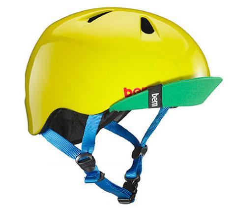 (XS-S2歳~4歳)BERNのジュニア、キッズ用ヘルメット BOYSYELLOW