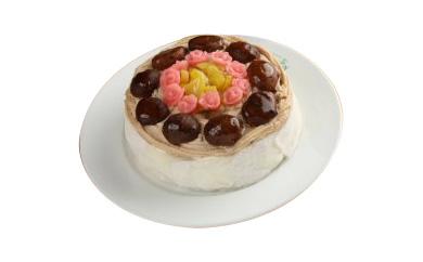 有機豆乳のモンブランシフォンケーキ(5号サイズホール)