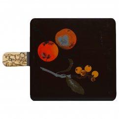 漆藝スマホケース手帳型柴田是真 「果蔬蒔絵重箱(蓋)」モチーフ
