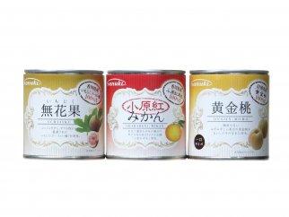 【お試し各1缶】国産フルーツ缶詰 3種類セット