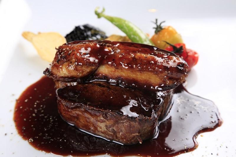 ★予約限定★国産松茸と広島牛の極厚ステーキ900g フォアグラとトリュフソース