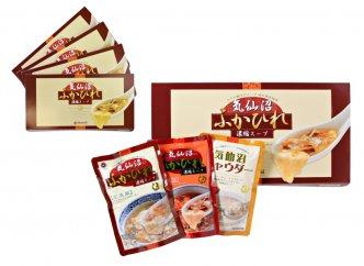 気仙沼ふかひれ濃縮スープ3袋化粧箱入(広東風・四川風・チャウダー各1袋)×4箱