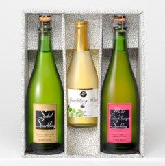 味わい3種類!スパークリングワイン3本セット
